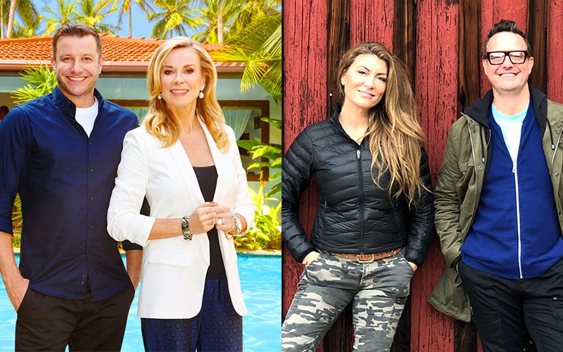Instant Hotel's Luke Jacobz and Juliet Ashworth, and Stay Here's Genevieve Gorder and Peter Lorimer