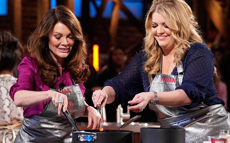 Lisa Vanderpump and her daughter Pandora on Masterchef's Celebrity Family Showdown
