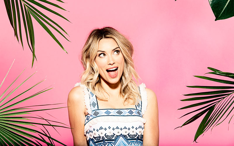 Arielle Vandenberg is the host of CBS' version of Love Island