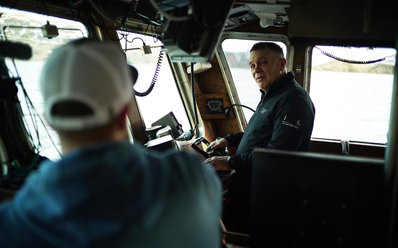 "Captain Steve ""Harley"" Davidson on the Southern Wind during Deadliest Catch season 15, episode 3"