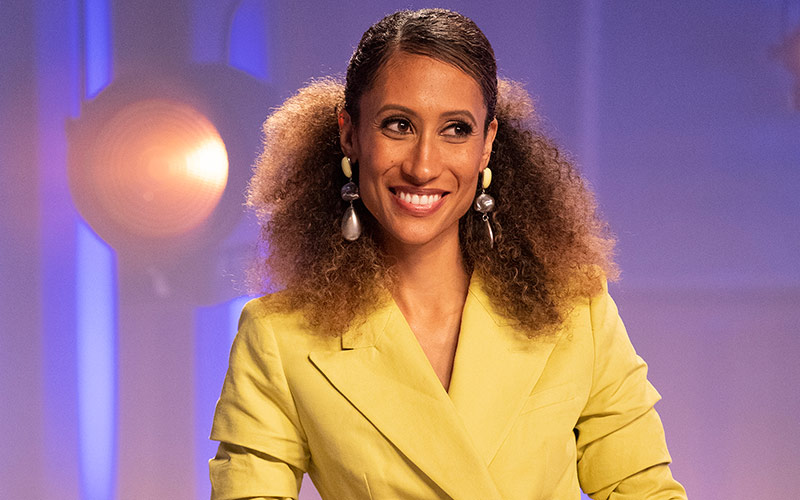 "Elaine Welteroth judging Project Runway season 17's episode 13, ""One Elle of a Day"""