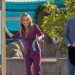 Giada De Laurentiis and Bobby Flay during a Food Network Star season 14 challenge at the Aquarium of the Pacific