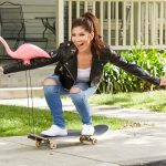 Julie Chen on a skateboard, Big Brother 21, BB21