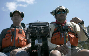 Cajun Navy members Kip and Allen on an airboat
