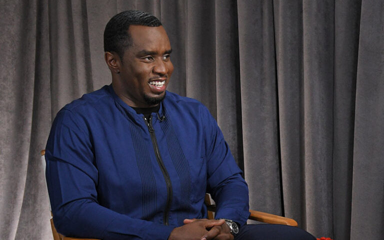 """Sean """"Diddy"""" Combs interviewed by Michael Strahan on Good Morning America, May 11, 2017."""