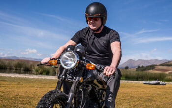 Gordon Ramsay rides a motorcycle in Peru on Gordon Ramsay: Uncharted