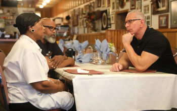 Robert Irvine on Restaurant: Impossible with the owners of Josephine's Cooking, Josephine and Victor
