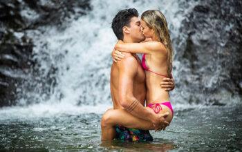 Zac Mirabelli and Elizabeth Weber on Love Island