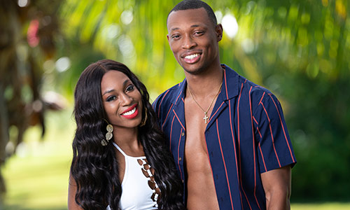 Ashley Godson and Rick Fleur, one of the four couples on Temptation Island.