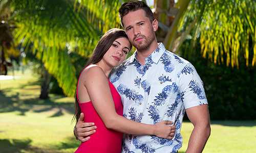 Ashley Howland and Casey Starchak, one of the four couples on Temptation Island.