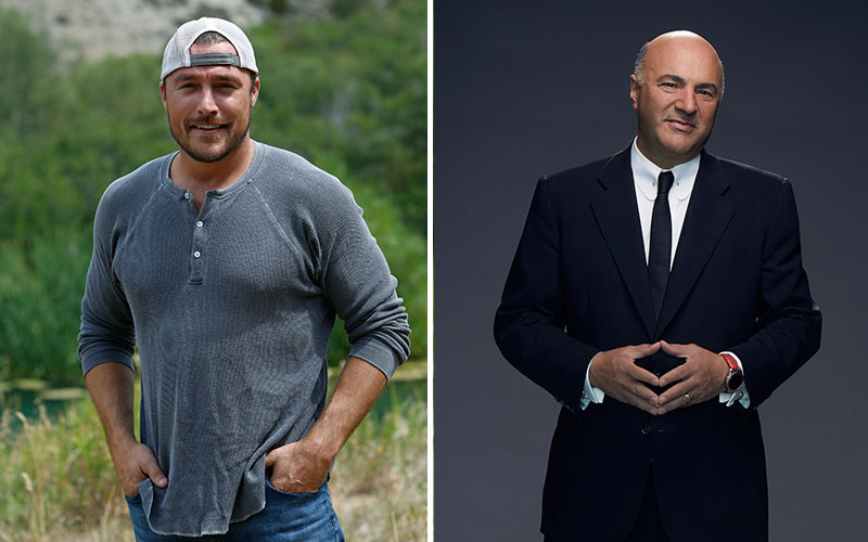 The Bachelor 19 star Chris Soules (left) and Shark Tank star Kevin O'Leary (right)