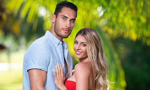 David Benavidez and Kate Griffith, one of the four couples on Temptation Island.