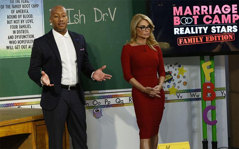 Dr. Ish Major and Dr. V, aka Venus Nicolino, on Marriage Boot Camp: Reality Stars season 10. They're returning for season 13.