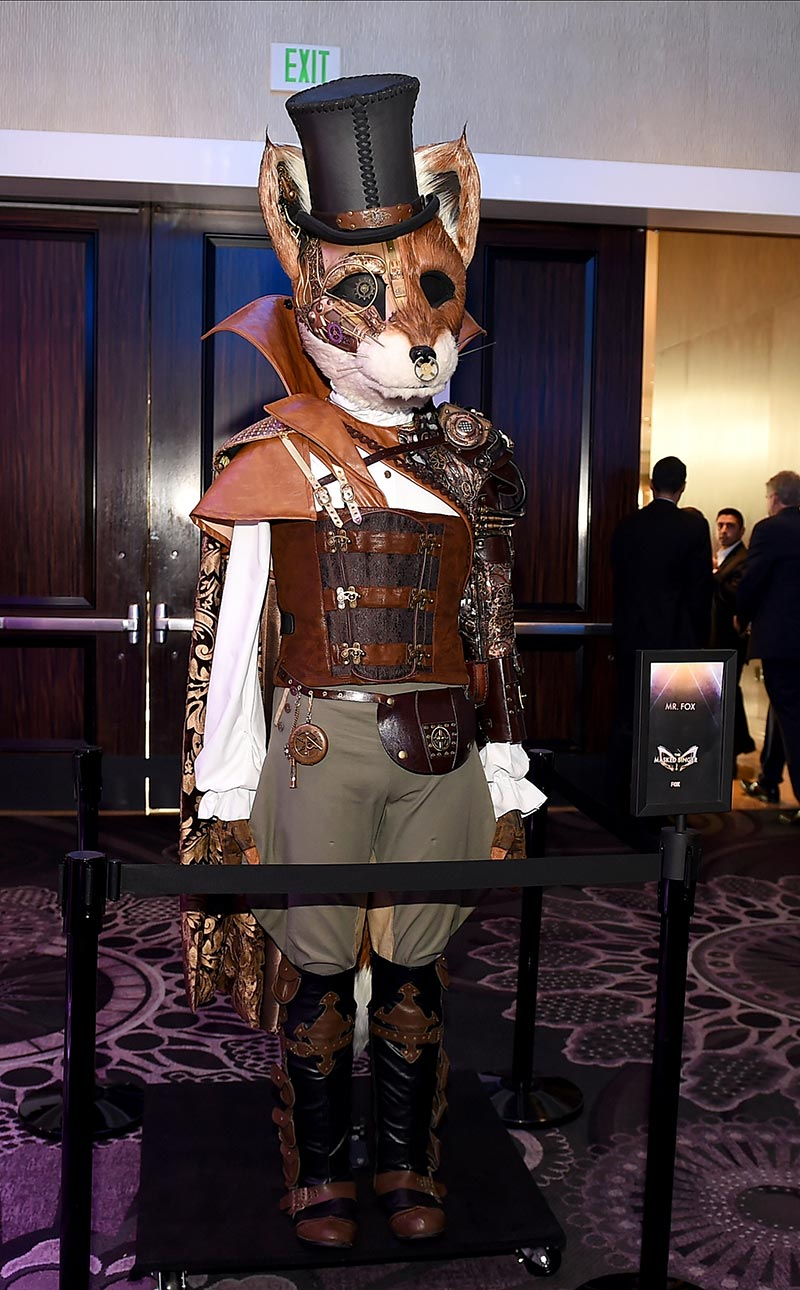 The Fox from The Masked Singer season 2, on display at the Television Critics Association's summer press tour