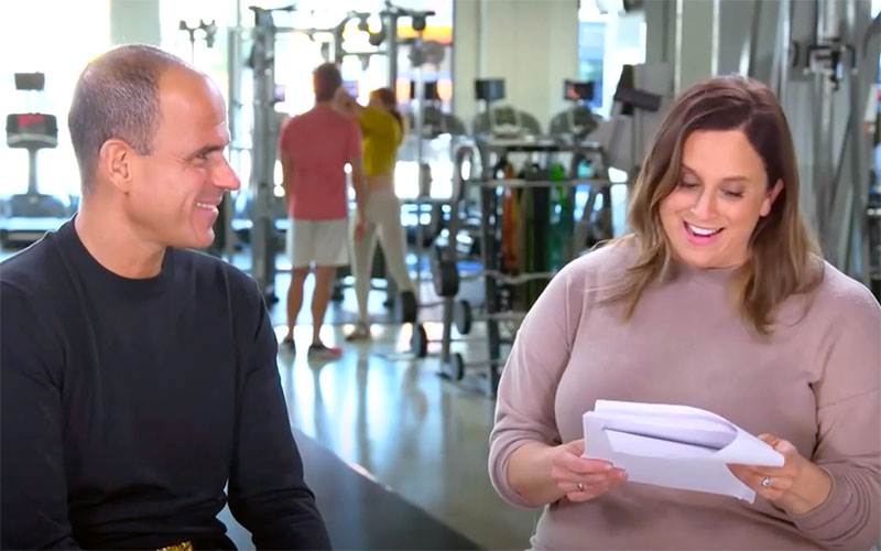 "The Profit executive producer Amber Mazzola, right, reads CNBC's notes on the ""Pro-Fit"" episode to star Marcus Lemonis during the ""Inside Look"" episode."