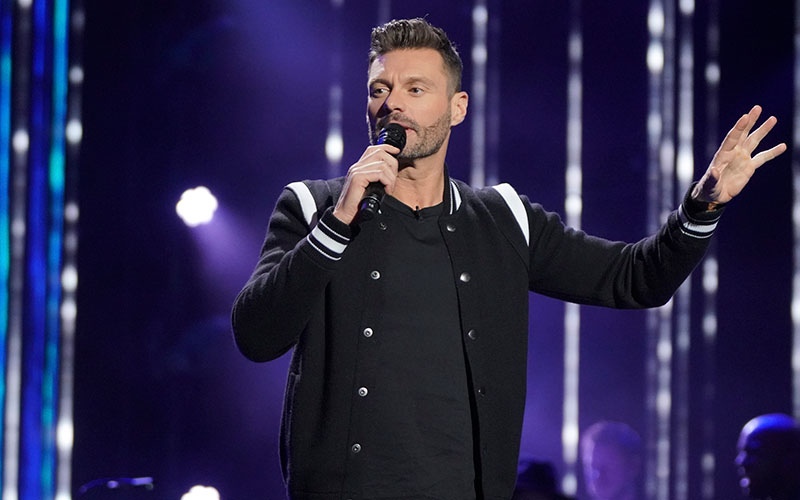 Ryan Seacrest during the duets episode of American Idol's second season on ABC