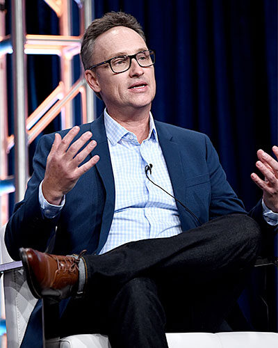 Tim Warren, showrunner of Undercover Billionaire, at the summer Television Critics Association press tour