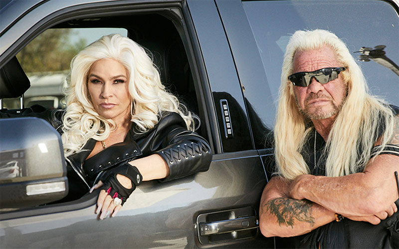 """Beth Chapman and Duane """"Dog"""" Chapman, the stars of Dog's Most Wanted"""