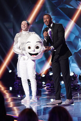 Johnny Weir was unmasked as Egg on the season two premiere of The Masked Singer.