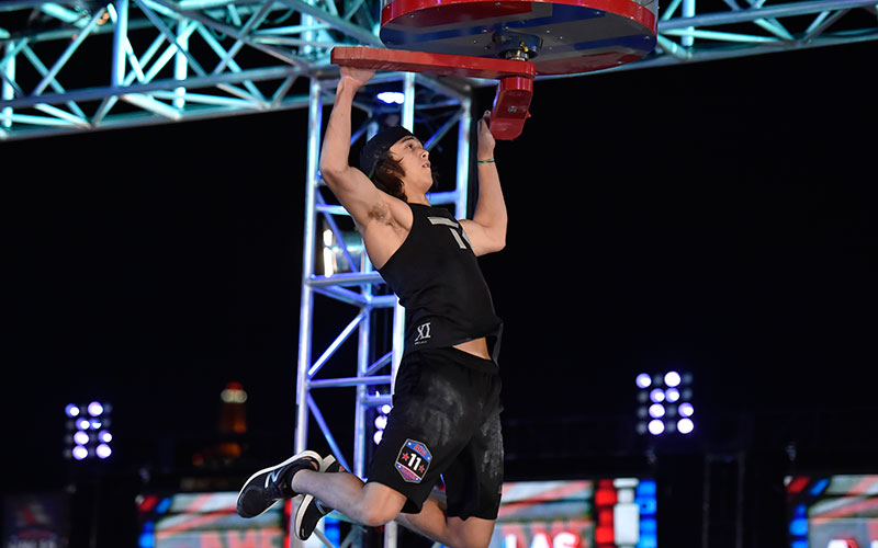 """Mathis """"The Kid"""" Owhadi is one of the 21 American Ninja Warrior contestants competing on stage three; one of them will win $1 million by completing stage four the fastest."""