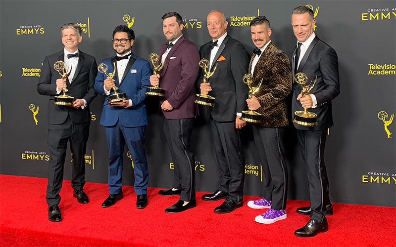Queer Eye's editors, who won the Emmy for reality TV picture editing for the second year in a row