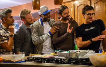 Tan France, Bobby Berk, Karamo Brown, Jonathan Van Ness, and Antoni Porowski in Queer Eye season 4, episode 6