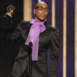 RuPaul accepts his fourth Emmy for hosting VH1's reality competition RuPaul's Drag Race