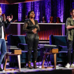 Songland mentors Shane McAnally, Ester Dean, and and Ryan Tedder during the Charlie Puth episode.