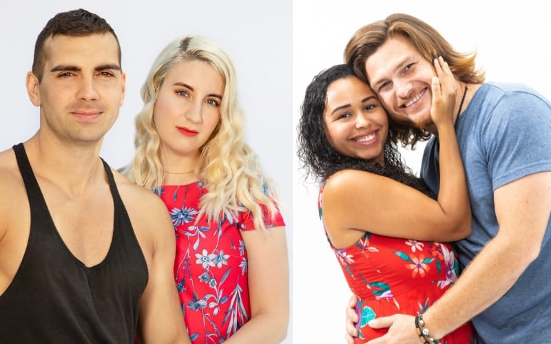 90 Day Fiance season 7 cast members Sasha & Emily, and Tania & Syngin
