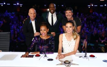 Everyone here, pictured during America's Got Talent: The Champions season 1—Howie Mandel, Mel B, Terry Crews, Heidi Klum, Simon Cowell, the Golden Buzzer—is returning for season 2, except for Mel B. She's being replaced by Britain's Got Talent judge Alesha Dixon.