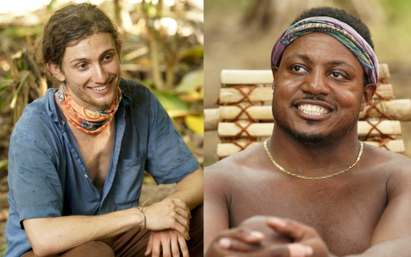 Jack Nichting during episode 5 of Survivor Island of the Idols, and Jamal Shipman during episode 4. In episode 6, they had a great conversation about race and privilege