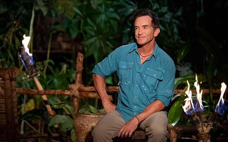 Jeff Probst at Tribal Council on Survivor: Island of the Idols