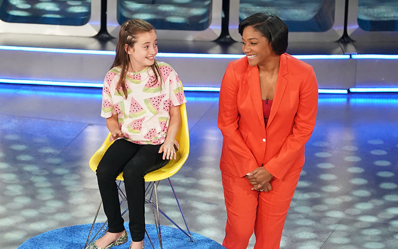 Sofia and Tiffany Haddish on the Oct. 20 episode of Kids Say the Darndest Things