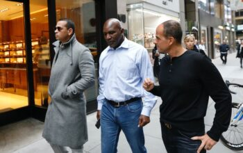 Alex Rodriguez, Evander Holyfield, and Marcus Lemonis in Back in the Game episode 1.