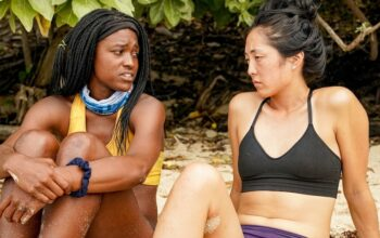 Missy Byrd and Kellee Kim talk on the Survivor Island of the Idols merge episode