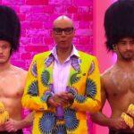 RuPaul and two members of RuPaul's Drag Race's Brit Crew