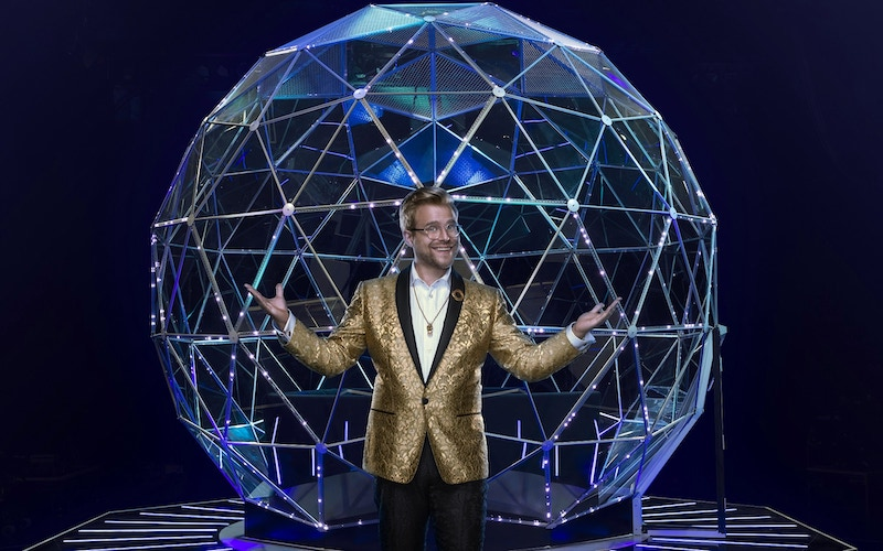 Adam Conover, the host/maze master of Nickelodeon's The Crystal Maze