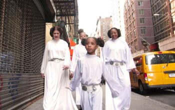"A scene from the ""How We Carrie On"" episode of Looking for Leia, an online series about a diverse group of Star Wars fans"