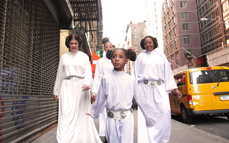 """A scene from the """"How We Carrie On"""" episode of Looking for Leia, an online series about a diverse group of Star Wars fans"""