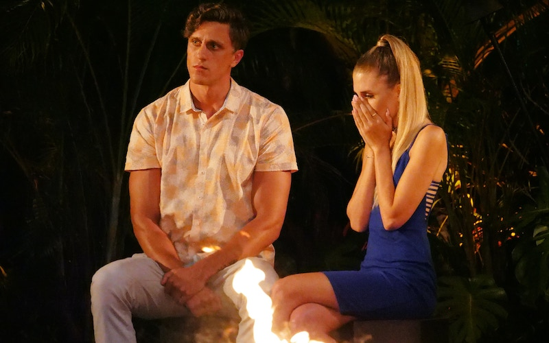 Campbell at Temptation Island's final bonfire, when Kaci learned Evan would be leaving with Morgan