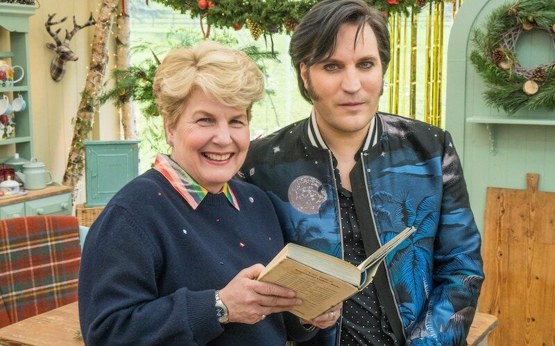 Sandi Toksvig and Noel Fielding on The Great New Year's Bake Off