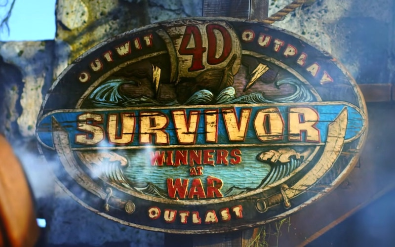 The Survivor Winners at War season 40 logo from the trailer