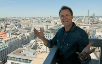 Amazing Race host Phil Keoghan in London during season 31. Amazing Race 33 visited London before suspending production.