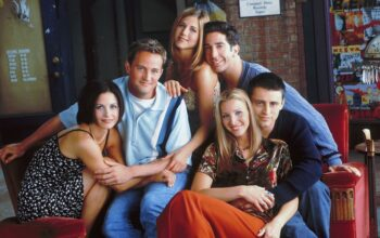The cast of Friends: Courteney Cox, Matthew Perry, Jennifer Aniston, David Schwimmer, Lisa Kudrow, and Matt LeBlanc