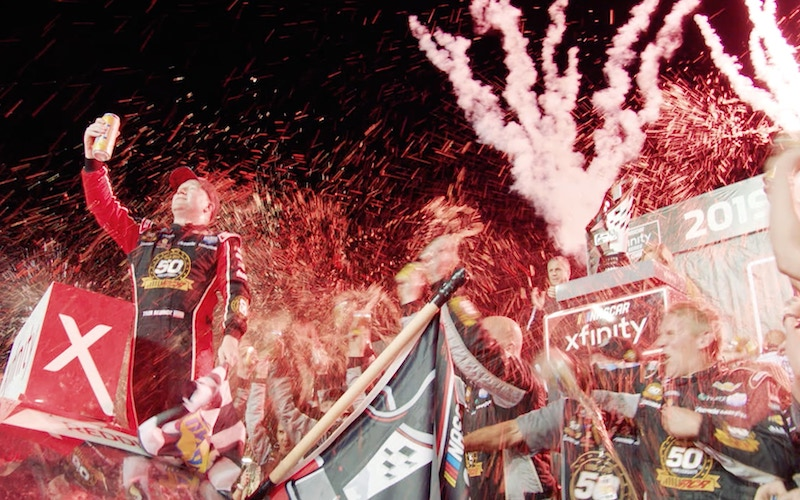 A scene from the trailer for NASCAR All In: Battle for Daytona