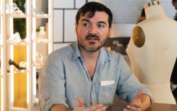 "Sergio Guadarrama during Project Runway 18's ""Sheer Genius"" episode"