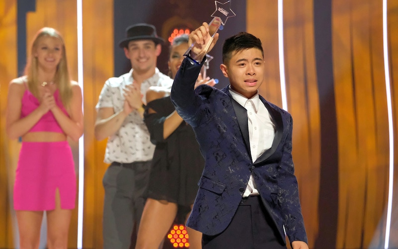 """Bailey Munoz after being selected as """"America's Favorite Dancer"""" on the So You Think You Can Dance season 16 finale"""