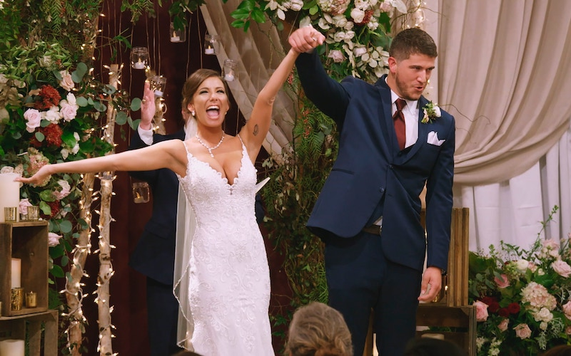 Amber Pike and Matt Barnett after getting married on the finale of Love is Blind