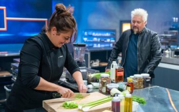 Antonia Lofaso and Guy Fieri on Tournament of Champions