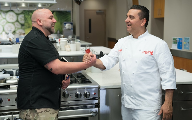 Buddy vs. Duff 2 stars and competitors Buddy Valastro and Duff Goldman